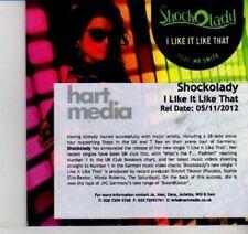 (DI587) Shockolady, I Like It Like That - 2012 DJ CD