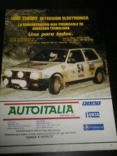 FIAT UNO TURBO - CAR VOITURE COCHE AD ANUNCIO PUBLICITE - SPANISH - 1410