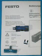 Festo Block-Shaped Proximity Sensor, SMTO-1-NS-S-LED-24C, NPN, N/O, M8X1 Plug