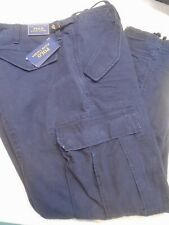 Polo Ralph Lauren Aviator Navy Button Fly Combat Cargo Pants 38 x 30 $125 NWT