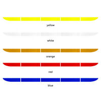 Car Rear Bumper Reflective Strip Reusable No Trace Warning Tape Stickers Decal