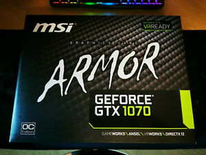 MSI NVIDIA GeForce GTX 1070 (8GB) Armor OC Edition Graphics Card