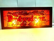 Very Rare Vintage 1970'S Budweiser Bud Bar Light Excellent Working Condition Euc