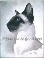 Siamese Cat art print large from original painting signed by Suzanne Le Good
