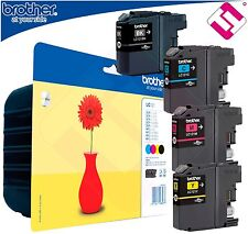 PACK TINTA ORIGINAL LC121 IMPRESORA BROTHER  DCP J152W CARTUCHO 4 COLORES OFERTA