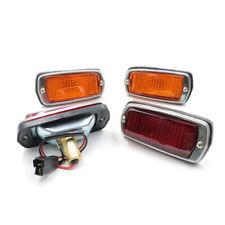 Set Side Marker Lamp Red Amber 4Pcs. Fit Nissan Sedan 510 120Y B210 240Z 1968-78