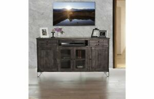 """Crafters and Weavers Sawyer Parota Hairpin TV Stand - 70"""""""