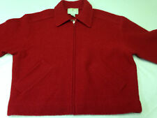 Vintage Express Tricot Sweater Jacket Boiled Wool Zip Up Women's Size M