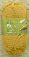 8 X 50g King Cole Merino Blend Superwash DK Mustard 100 Wool