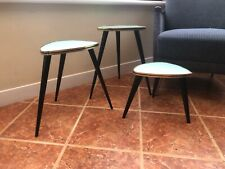 VINTAGE NEST OF 1950S TABLES PLANT STANDS BEDSIDE TABLES