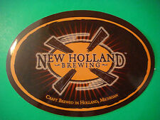 Beer STICKER >< NEW HOLLAND Brewing Craft Brewed in Holland, MICHIGAN Since 1997