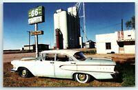 Postcard Route 66 Souvenirs Groom Texas TX Edsel Courts Motel Hotel Junker A1