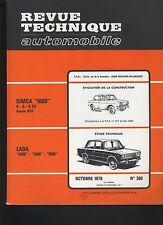 (C1)REVUE TECHNIQUE AUTOMOBILE LADA 1200-1300-1500 / SIMCA 1000 4-5-6cv