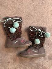 Girls Skechers Twinkle Toe Boots Size 9.5