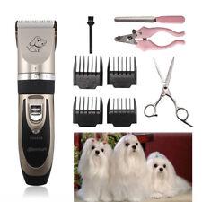 Electric Animal Pet Dog Cat Fur Hair Cordless Trimmer Shaver Razor Clipper Set