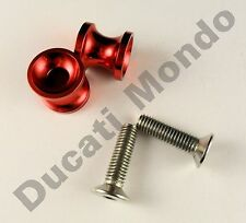 Billet paddock stand spools hook bobbin red for Ducati 749 999 M8 8mm