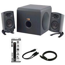 Klipsch ProMedia 2.1 THX Certified Computer Speaker System Blck w/Acccessory Kit
