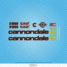 Cannondale R1000 Bicycle Decals - Transfers - Stickers - Black - Set 0651