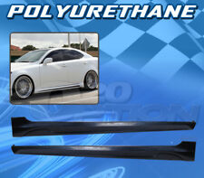In-S Style Polyurethane PU Add-On Side Skirt Body kit for 06-13 LEXUS IS250/350