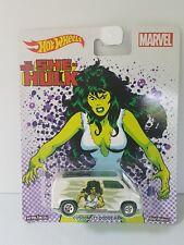 Hot Wheels the Savage She Hulk Marvel custom 1977 Dodge van NIB real riders
