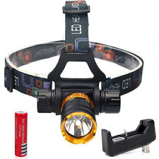 Underwater 50M 2000Lm T6 LED Swimming Headlight Diving Headlamp +18650 + Charger
