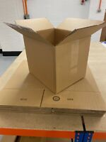 10pk Med Size 41x34x34cm Cardboard Boxes - Single Wall Strong Boxes - Used Once