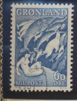 Greenland Stamp Scott #43, Used