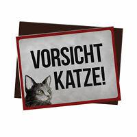 Besucher müssen erst von der Katze genehmigt Kühlschrankmagnet Magnetschild