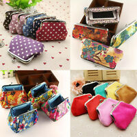 Retro Small Wallet Change Coin Purse Hasp Clutch Band Credit Card Holder Handbag