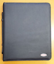 "Toshiba 12.1"" Premium Compendium Genuine Black Leather Notebook Laptop Case"