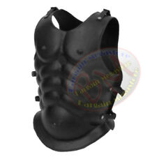 Medieval Muscle Body Armor Iron Steel Chest Plate Chest Armour Costume Black