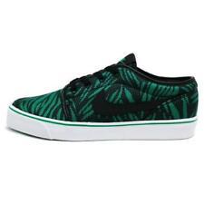 Nike Toki Low TXT Textile Print 631697-003 Black/Lucid Green-White Tree Leaf NEW