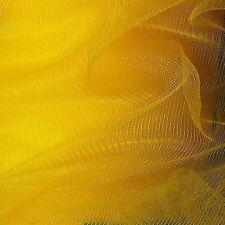 "35 Yards Roll Yellow Tulle 100% Nylon Mesh 60"" Wide Fabric"