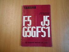 Werkstatthandbuch Shop Service manual Yamaha F5 J5 G5G FS1