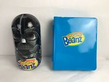 Mighty Beanz Lot with Blue  Carrying Case - 36 Pieces plus a Star Wars Case