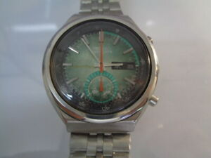 SEIKO CHRONOGRAPH SPEEDTIMER MENS WATCH DAY & DATE AUTOMATIC 6139