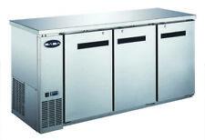 """Saba 72"""" Stainless Steel Back Bar Refrigerator & Beverage Cooler, 24"""" Depth"""