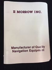 VINTAGE 1986 II MORROW APOLLO II MODEL 612 PILOT'S OPERATING HANDBOOK