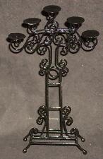 Black Wrought Iron Wedding Tiered Candle Holder OK Hispanic Interiors EIWF551
