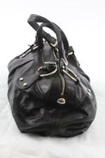 DKNY BLACK SILVER LEATHER HANDBAG