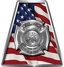 Firefighter Fire Helmet Tetrahedrons Set of 8 American Flag Maltese Cross FF020