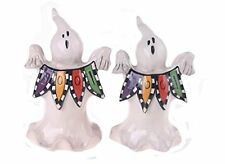 Blue Sky Clayworks Halloween Ghost Boo Sign Salt Pepper Shakers Set Goldminc NEW