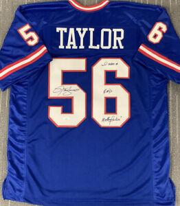 Lawrence Taylor Signed Jersey XL Giants Autograph Bad MotherF*$!Inscription JSA