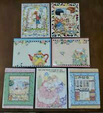 7 Mary Engelbreit blank note cards, Friendship, all occasion themed, dimensional
