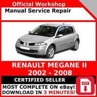 # FACTORY WORKSHOP SERVICE REPAIR MANUAL RENAULT MEGANE II 2002 - 2008