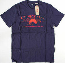 Levi's retro Rising Sun T-Shirt- M- NEW- Levis tee- SF CA 1853- navy top