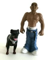 """Lil Locsters Choco with Rottweiler Series 2 - 1.75"""" PVC Figure (AKA Homies)"""