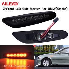 2PCS Smoke LED Side Marker Light For BMW E46 E60 E61 E81 E82 E83 E84 E87 E90 E91