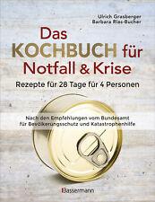 Das Kochbuch für Notfall & Krise - Rezepte für 28 Tage für 4 P Neu ab 31.3.2020