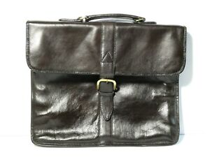 Vintage Hidesign ABERDEEN Leather Briefcase Commuters Bag - Strap Dust Bag